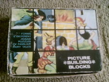 CHADWICK PICTURE BUILDING BLOCKS FORMS 6 DIFFERENT JIGSAW PUZZLES HONG KONG