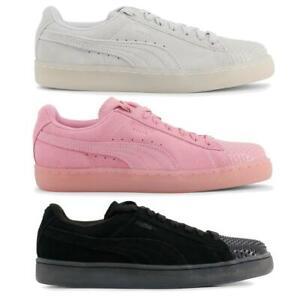 PUMA-Scarpe-Donna-Sneakers-Ginnastica-Basse-camoscio-gomma-sportive-lacci-DD