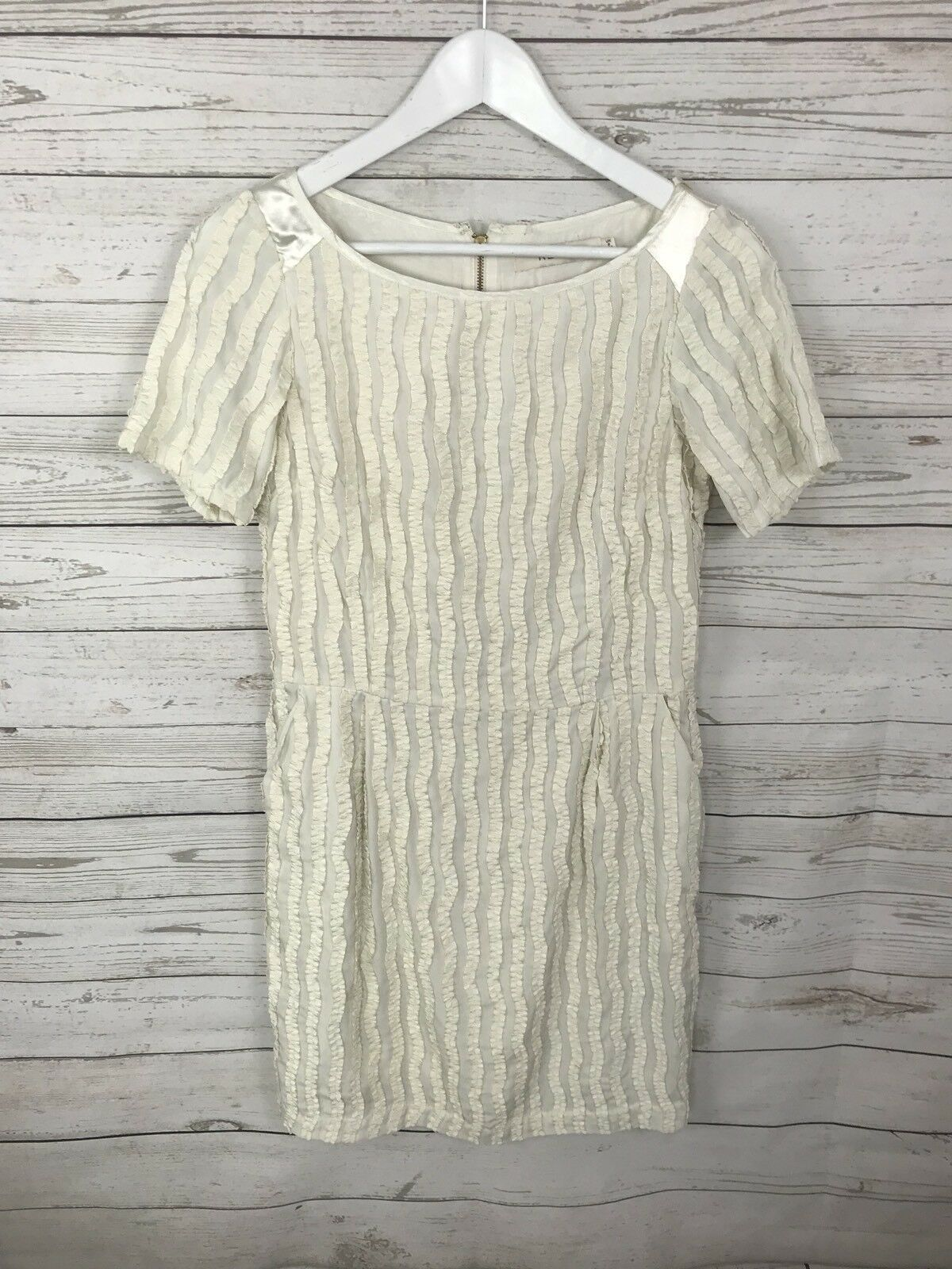 REISS Shift Dress - Size UK6 - Cream - Great Condition