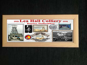 LEA-HALL-COLLIERY-COAL-MINE-FRAMED-PLAQUE-GREAT-GIFT-MINERS-STAFFORDSHIRE