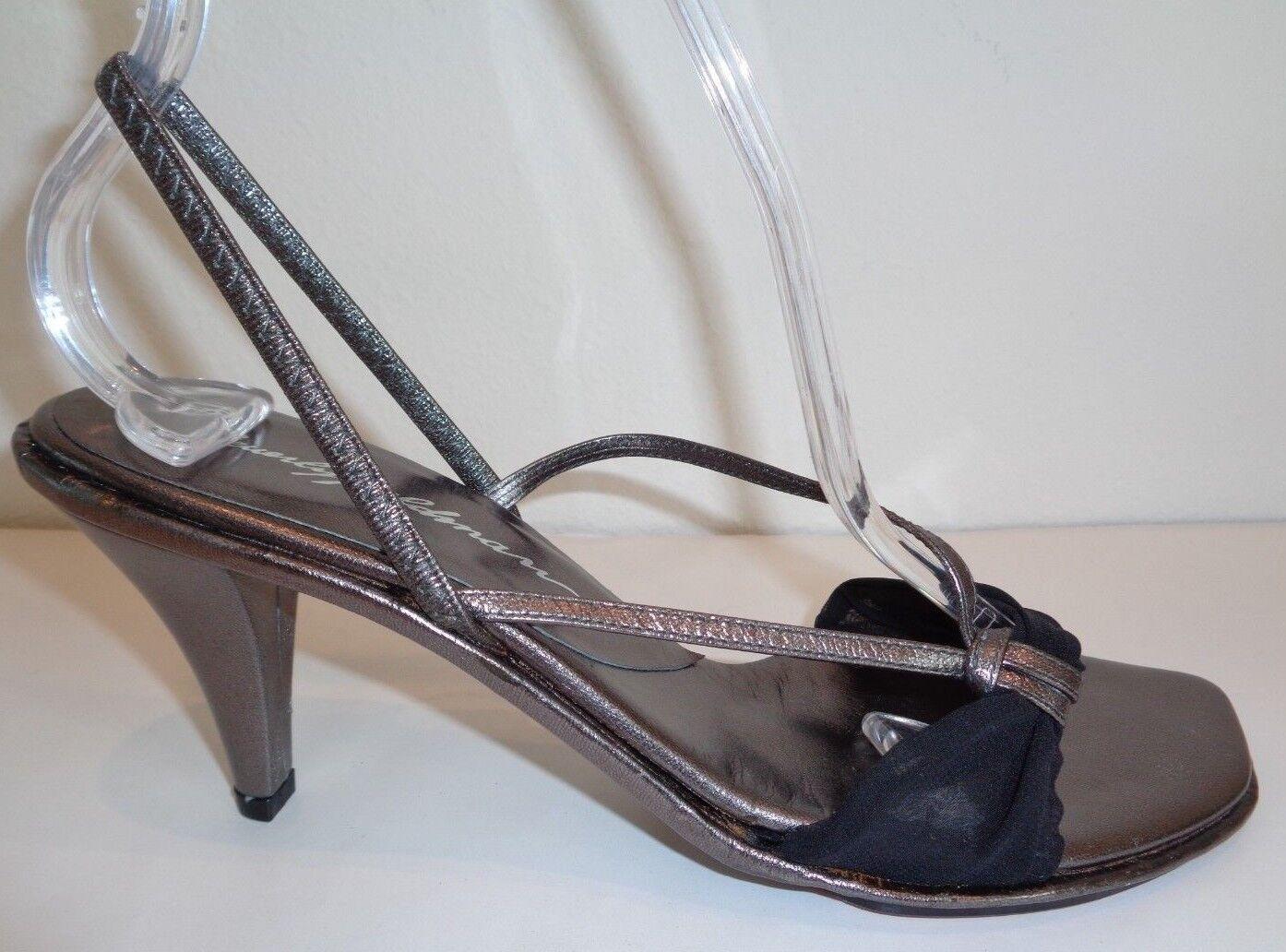 Beverly Feldman Talla 7 Tacos Sandalias Sandalias Sandalias De Gasa Tire Negro Nuevo Zapatos para mujer  venta mundialmente famosa en línea