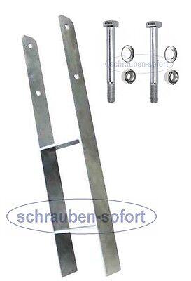 H-Anker 141 x 600 x 6 mm zum Einbetonieren feuerverzinkt H-Pfostenträger