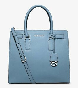 21d54d98c759 Michael Kors Dillon Sky Saffiano Leather Large North South Tote Bag ...