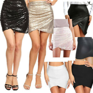 new style bf8c3 3f383 Womens Sexy Sequins High Waist Mini Skirts Party Wear ...