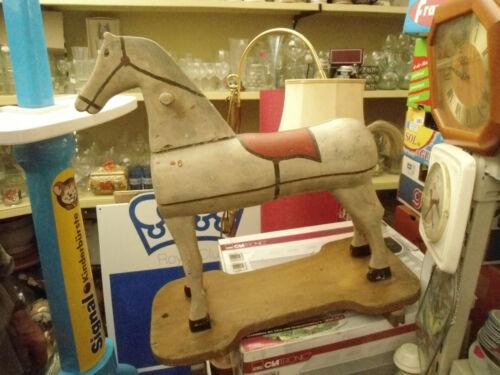 Sehr altes Antik Kinder Holzpferd Holzspielzeug