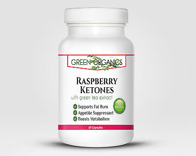 Raspberry Ketones with Green Tea Extract by Green Organics - Weight Loss