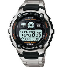Casio AE2000WD-1AV, Watch, 5 Alarms, Day/Date, 200 Meter WR, 10 Year Battery
