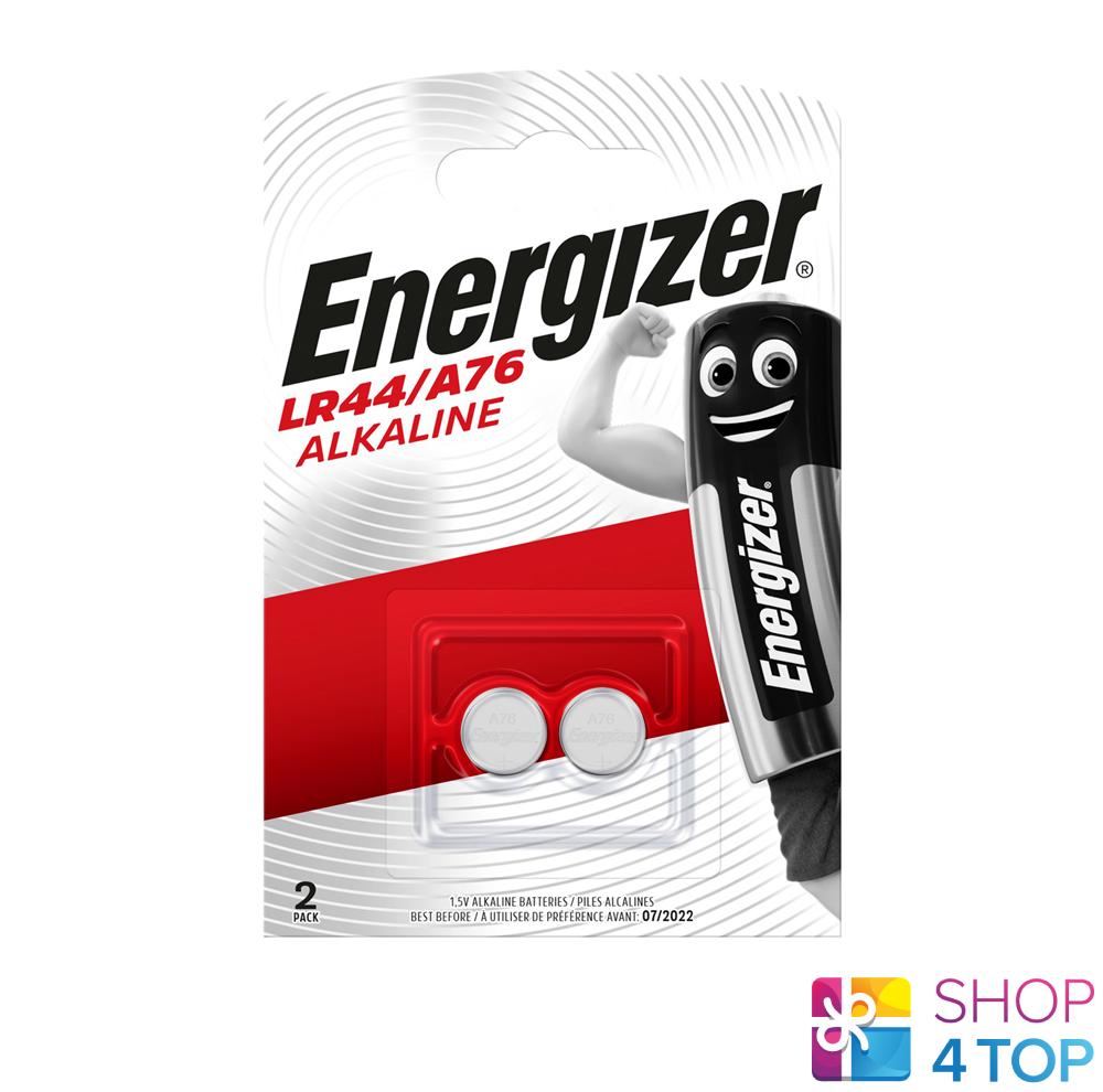2 energizer alkaline batteries lr44 a76 1.5v g13 ag13 exp 2022 new