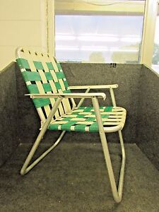 Image is loading RETRO-ALUMINUM-FOLDING-WEBBED-LAWN-CHAIR-ALUMINUM-ARMS- : webbed lawn chairs - lorbestier.org