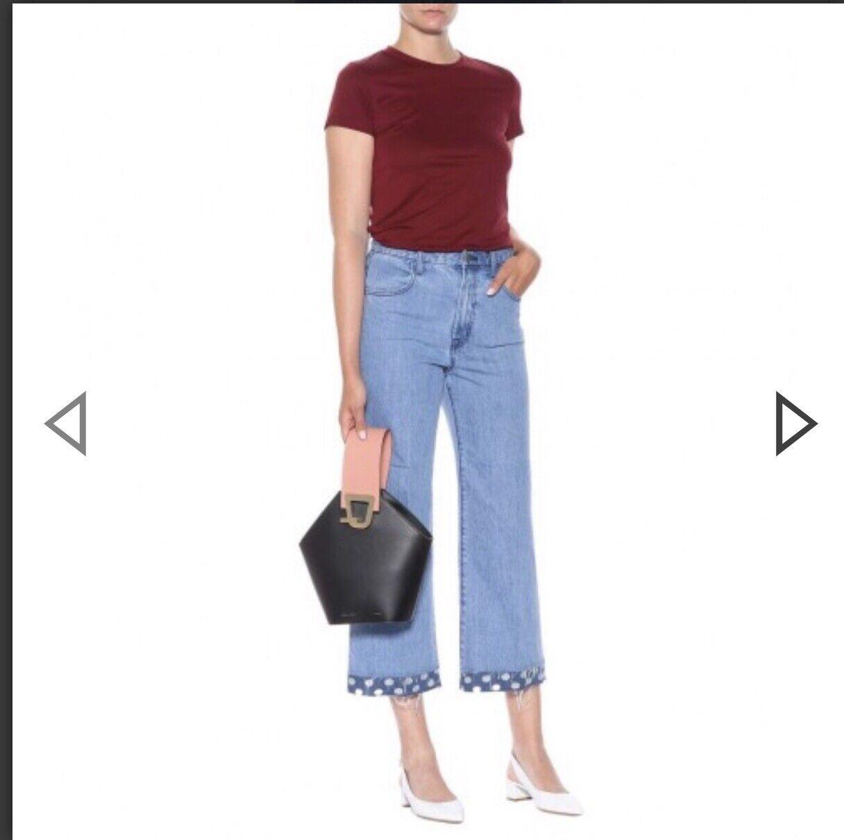 NWT J. Brand Joan High Rise Crop Women's Jeans Denim Light Wash bluee color Sz 25