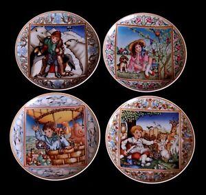 Piatti In Ceramica Per Bambini.Dettagli Su Villeroy Boch Serie Completa Di 4 Piatti In Ceramica I Sogni Dei Bambini