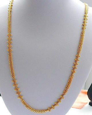 Real looking 22 ct gold plated set - Indian Chain  fashion Necklace 28in lenght