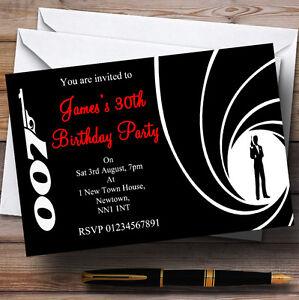 James bond personalised party invitations ebay image is loading james bond personalised party invitations stopboris Choice Image