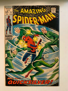 AMAZING-SPIDER-MAN-71-7-5-VF-Condition-Quicksilver-Appearance