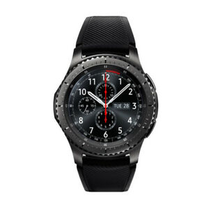 Samsung R765 Gear S3 Frontier Verizon Stainless Steel Case Gray Band Smart Watch