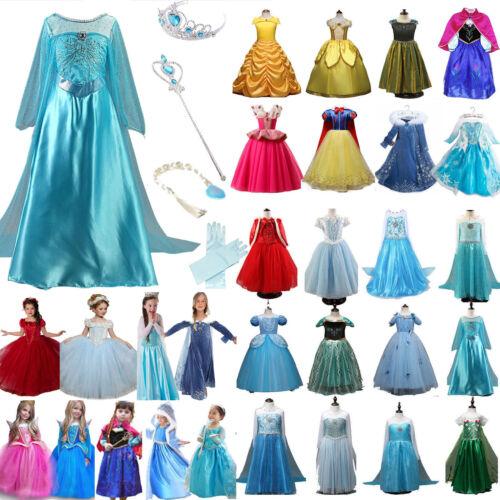 Mädchen Frozen Elsa Kleid Eiskönigin Cosplay Kostüm Hose Karneval Schuhe Slipper