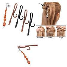 Magic TWIST N CLIP For Women Hair 4 Hairpin Clips + 1 Tassel Hair Accessory FI