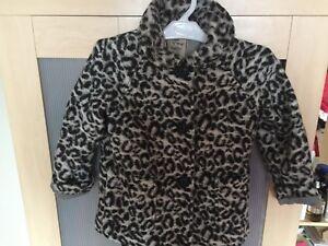 Girls-Next-Leopard-stampa-cappotto-inverno-5-6-anni