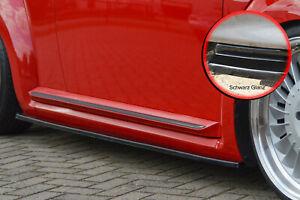 Cup-minigonne-gonne-ABS-per-VW-Beetle-Tipo-16-5c-NERO-LUCIDO