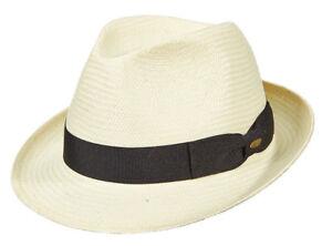 542d5ae2 SCALA * MEN WHITE DRESS FEDORA HAT * NEW TRILBY PANAMA STYLE TOYO ...