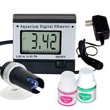 Digital pH Meter Tester Monitor Hydroponics Aquarium w/ Power Adaptor 0.0~14 pH