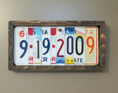 Names Custom License Plate Sign Personalized Anniversary Gift Unique Gift
