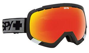 Spy-OPTIQUE-section-ski-lunettes-de-Snowboard-CADRE-NOIR-Bronze-Rouge-spectres