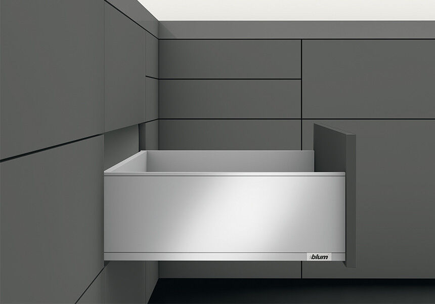 Blaum Set LEGRABOX pure C BlauMOTION NL=400mm 40kg seidenweiß matt