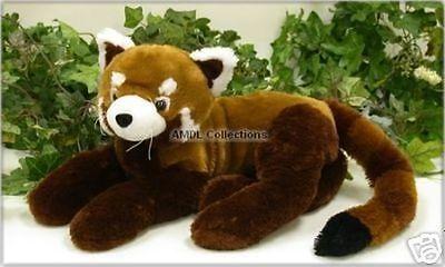 "11"" Laying Red Panda Plush Stuffed Animal Toy"