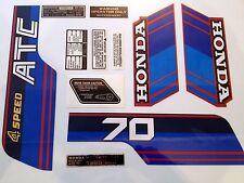 ATC 70 1985 Tank Frame Fender Decals Kit Stickers Set Honda Trike