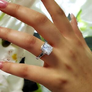 Lovely 3 00ct Cushion Cut Solitaire Diamond Engagement Ring H Vs1 Platinum Gia Ebay
