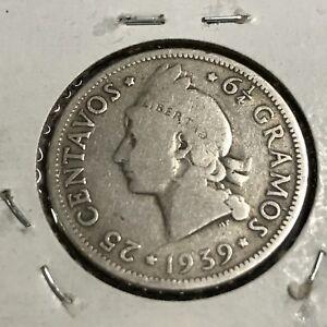 1939-DOMINICAN-REPUBLIC-SILVER-25-CENTAVOS