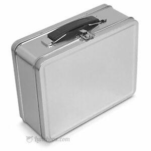 Plain Metal Snack Box / Silver Small Lunchbox Retro Lunch Box Lunchpail Pai