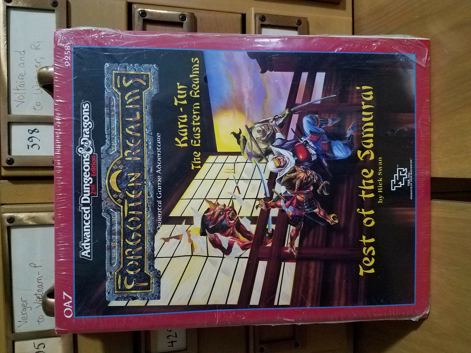 Sealed Forgotten Realms -Test Of The Samurai AD&D 9258 OA7  ✰Sarge & Reds✰