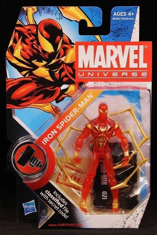 IRON SPIDER-MAN VHTF ( TRANSLUCENT VARIANT ) MARVEL UNIVERSE ACTION FIGURE  021