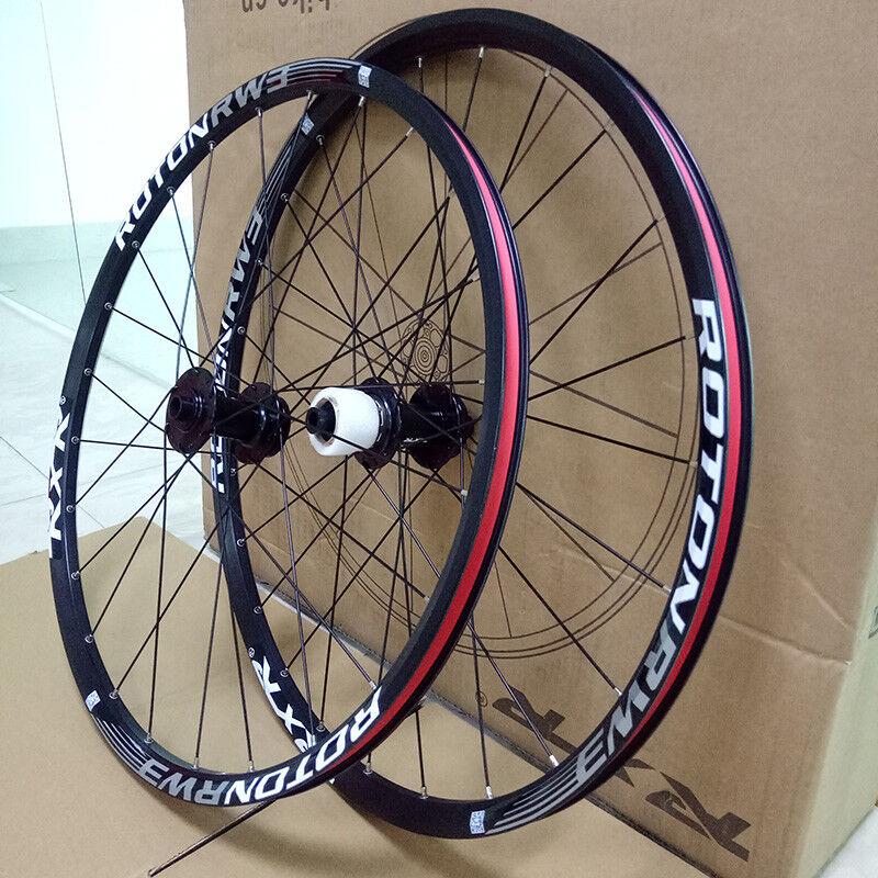 26 27.5 29 Eje Pasante QR Conjunto de Ruedas Bicicleta de montaña 7-11S freno de disco Juego de Ruedas Bicicleta de montaña