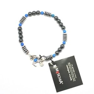 BRACCIALE-IN-ARGENTO-925-CON-TURCHESE-ED-EMATITE-BLE-2-MADE-IN-ITALY-BY-MASCHIA