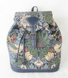 Tapestry Bird design Strawberry Thief Small Backpack