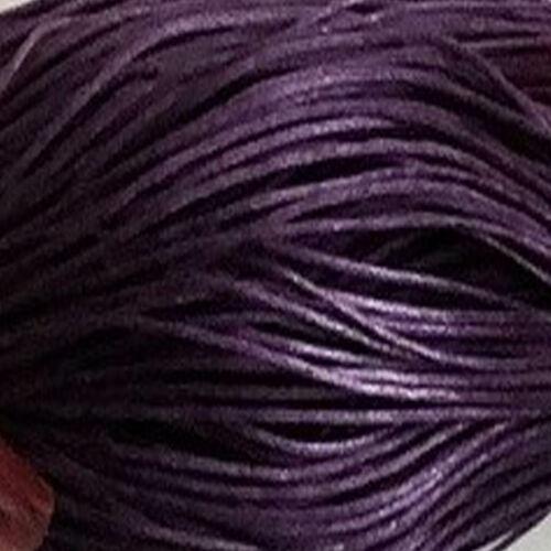 Cordón de algodón encerado 1mm X 80 metro de largo aprox elección de colores y muestras