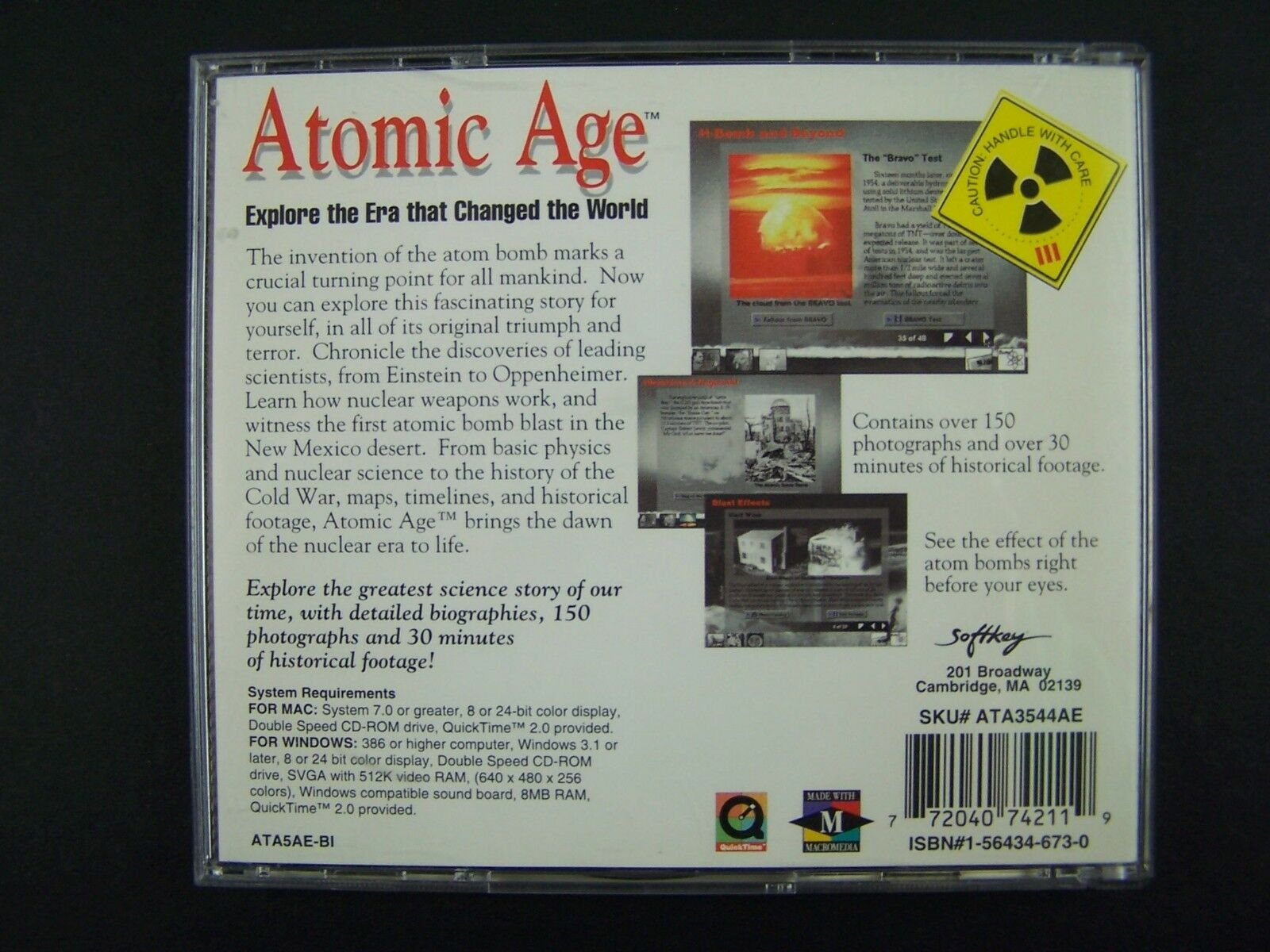 Atomic Age by Softkey PC Game CD-ROM 772040742119
