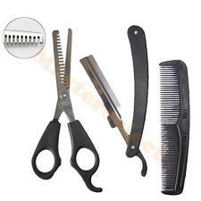 Ciseaux à désépaissir effileur effiler pour cheveux de coiffeur 170mm et Rasoir