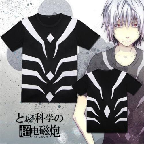 Toaru Majutsu no Index Accelerator 100/% Cotton T-shirt Tee Tops Cosplay Costume