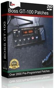 roland boss gt 100 patches dvd over 2000 pre programmed effects guitar pedals ebay. Black Bedroom Furniture Sets. Home Design Ideas
