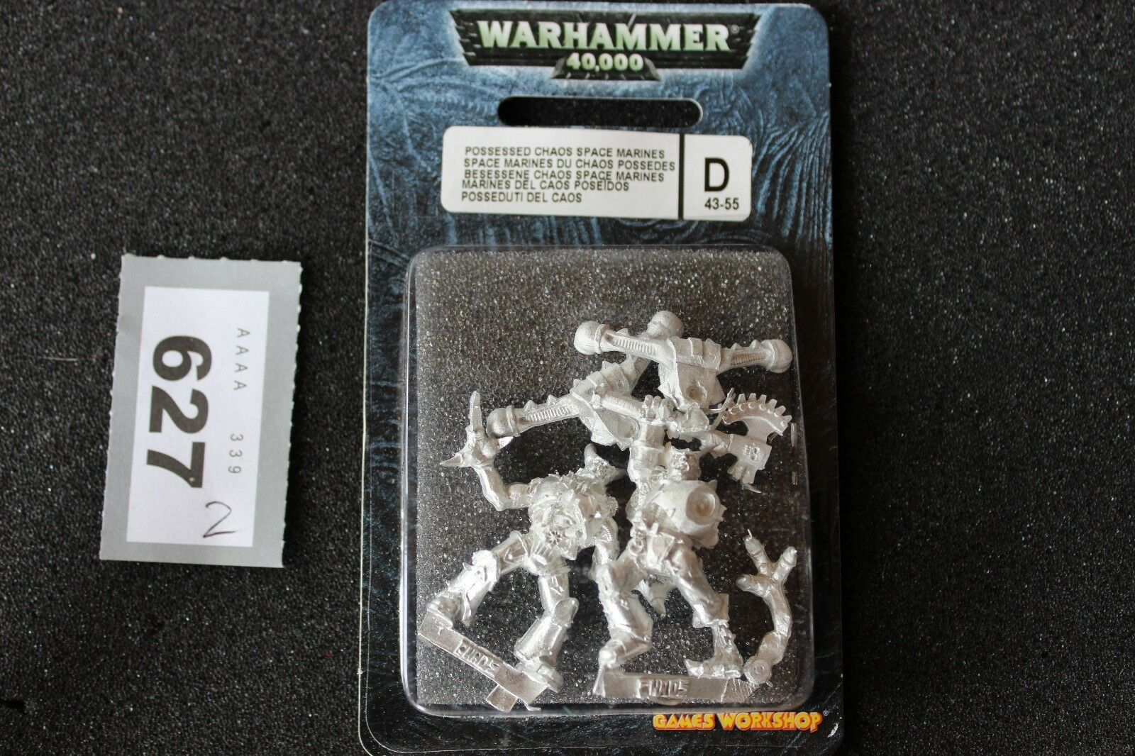 Games Workshop Warhammer 40k Possessed Chaos Space Marines x2 BNIB GW Metal OOP