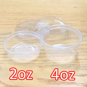 2oz-4oz-Clear-Plastic-Containers-Tubs-with-Separate-Lids-Food-Safe-Takeaway