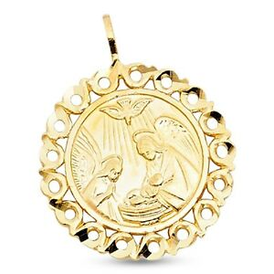 yellow white solid rose mi pendant image is s gold loading charm baptism itm bautizo medallion