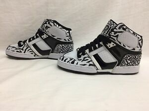 0b9f8578f90332 Osiris NYC 83 SLM ULT Girls Black   White Sneakers Size 6 US G
