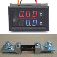 300V 200A +Shunt digital led Voltmeter & Amperemeter Spannung Strom Ampere 12v