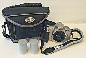 Nikon-N55-35mm-SLR-Film-Camera-Body-with-Strap-Film-Bag-Free-Shipping