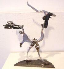 Jesus Flores recycled metal  tools &  bicycle sculpture bird Industrial art